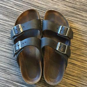 Gently used Birkenstock Arizona sandals